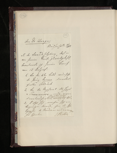Notes of Dr. Ernst Becker's letter to Gustav Waagen specifying Prince Albert's wishes about further photography of works by Raphael in Berlin