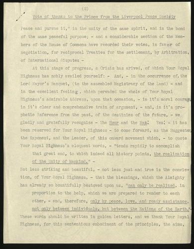 [Mar 1850] Liverpool Peace Society to Prince Albert