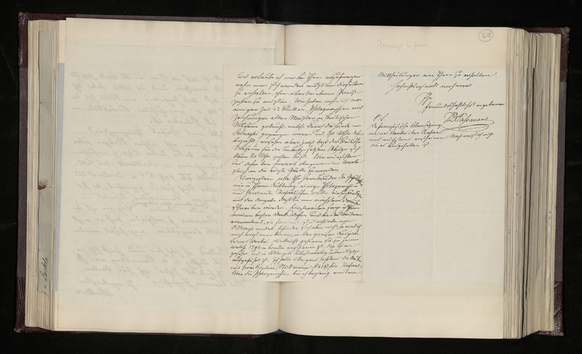 Letter from J. D. Passavant to Dr. Ernst Becker enquiring after the photographs of the Raphael Cartoons and asking how to obtain photographs of the Raphael drawings in Oxford and at the Louvre