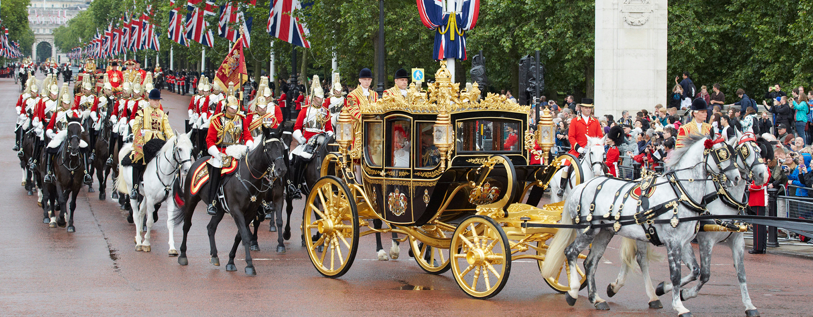The Diamond Jubilee State Coach at the State Opening of Parliament.