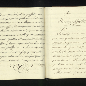 Prince Albert's Latin exercise books covering the years 1830-1835 and bound into one volume titled 'Lateinische Uebungen' [Latin Exercises]. Also includes some of Prince Albert's doodles.