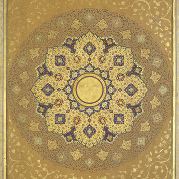 Padshahnama fol. 1.b A shamsa (image of the sun) was regularly placed on the frontispiece of a manuscript made for a royal patron. According to the official historian of Shah-Jahan's grandfather, the Emperor Akbar: 'The Shamsa is a divine light, which Go
