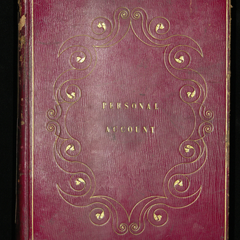 Debits and credits of Field Marshal Prince Albert, in account with Sir John Kirkland. Personal account and clothing account recorded at opposite ends of journal. Includes pay to Prince Albert as Colonel of various regiments. Credits include subscriptions