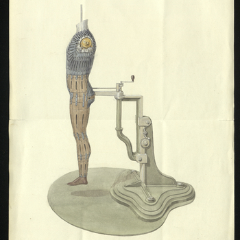 (199) Letter from J. Allayn to Earl Granville regarding Count Dunin's 'Man of Steel'. Allayn reports to Granville that Count Dunin wishes to exhibit his model the 'Man of Steel' at the Exhibition and would like Prince Albert to view it beforehand. Also in