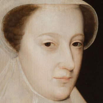 Close crop of portrait of Mary Queen of Scots