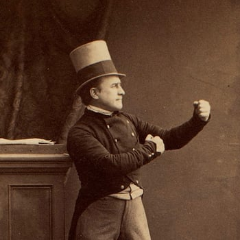 Portrait of Horace Wigan (c.1851-85) in the 'Benicia Boy', standing in a fighter's pose