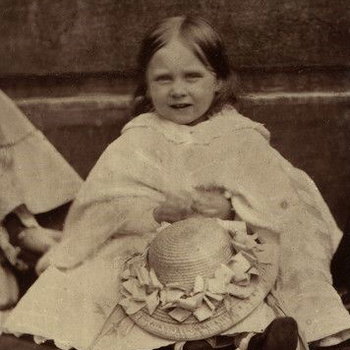 Detail of a photographic portrait of Princess Beatrice