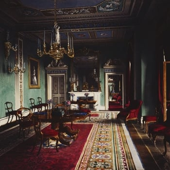 The west end of the Council Room, Osborne House.