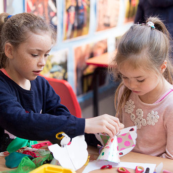 Children with craft activities at Windsor Castle