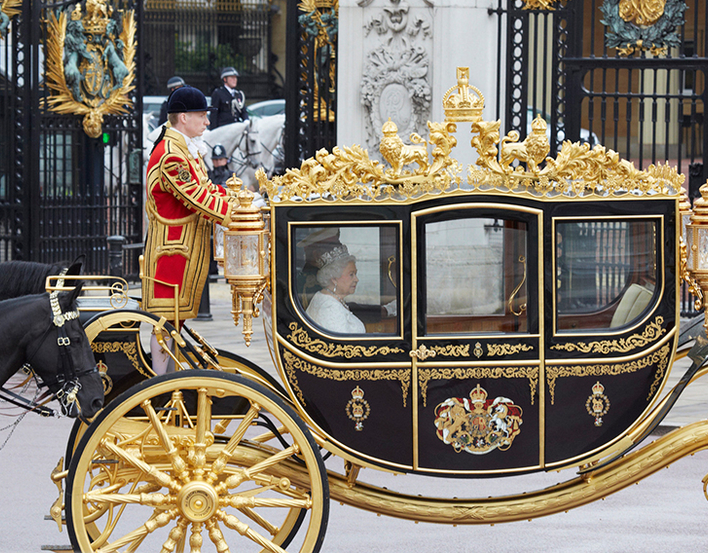 The Diamond Jubilee State Coach at the State Opening of Parliament